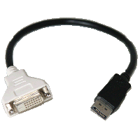 Displayport Male to DVI Female Cable